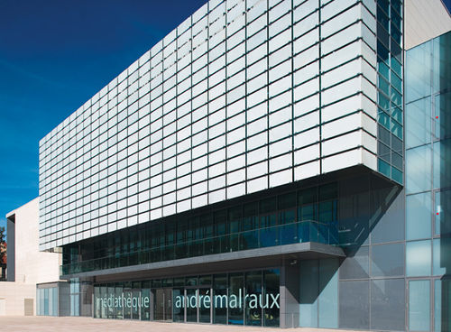 glass ventilated facade / aluminum
