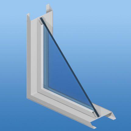 casement window / aluminum / fire-rated