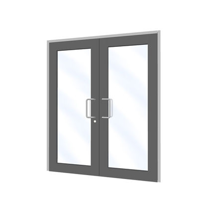 entry door / swing / aluminum / for public buildings
