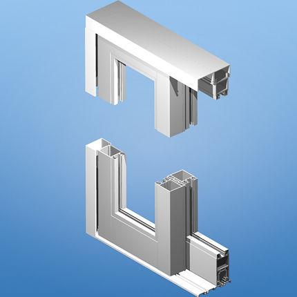 sliding patio door / aluminum / double-glazed / thermal break