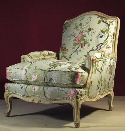 Merveilleux Upholstery Fabric / Floral Pattern / Cotton / Silk   APRILE
