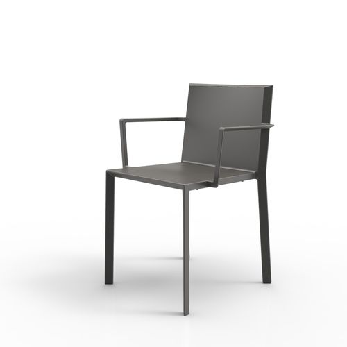 contemporary chair / with armrests / stackable / polyamide