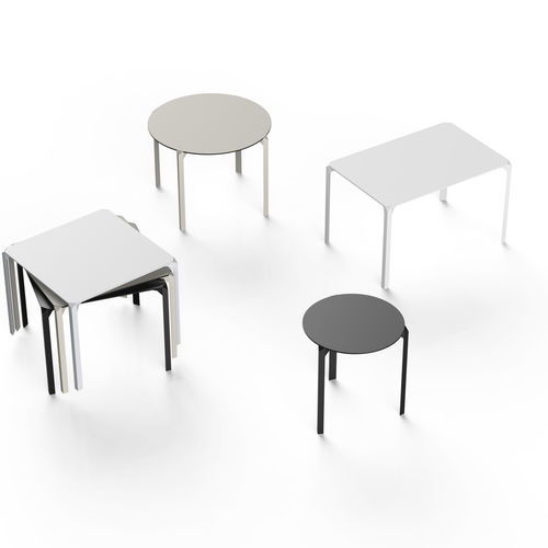 contemporary table / HPL / polyamide / rectangular