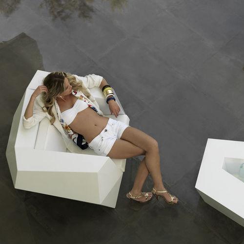 original design armchair / polyethylene / 100% recyclable / garden