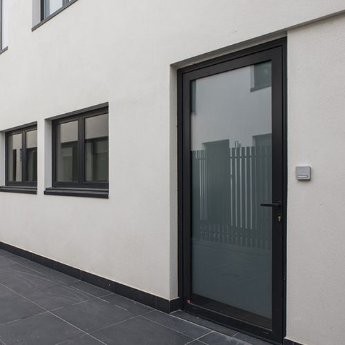 swing French door / aluminum / double-glazed / thermally-insulated