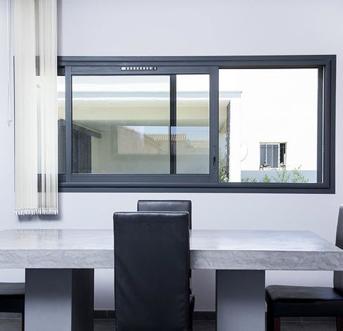 sliding window / aluminum / double-glazed / thermal break