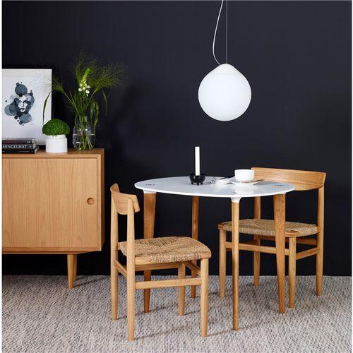 contemporary table / Hi-macs® / oak / walnut