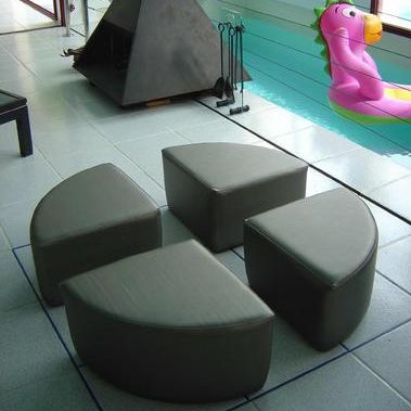 contemporary pouf / foam / synthetic leather / child's unisex
