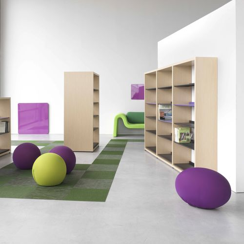 Modular bookcase / contemporary / commercial / wooden MAGISTEO DPC