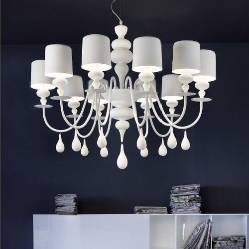 contemporary chandelier / aluminum / resin / incandescent