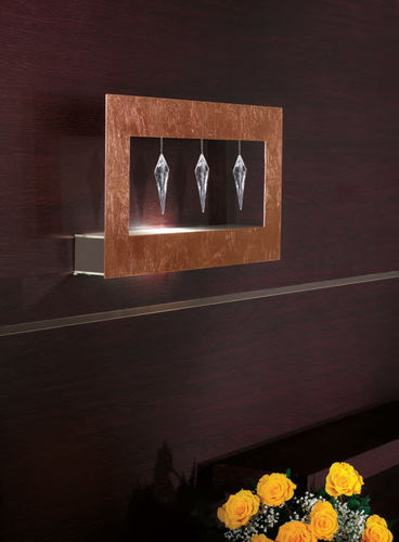 Contemporary wall light / square / rectangular / metal ECLETTICA : KLOCK by Studio Stile Masiero Masiero