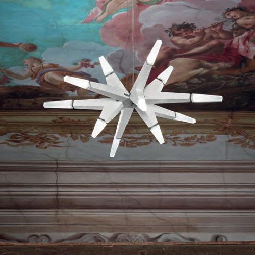original design chandelier / wooden / methacrylate / LED