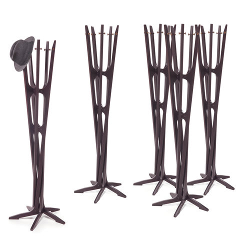 floor coat rack / original design / plywood / commercial