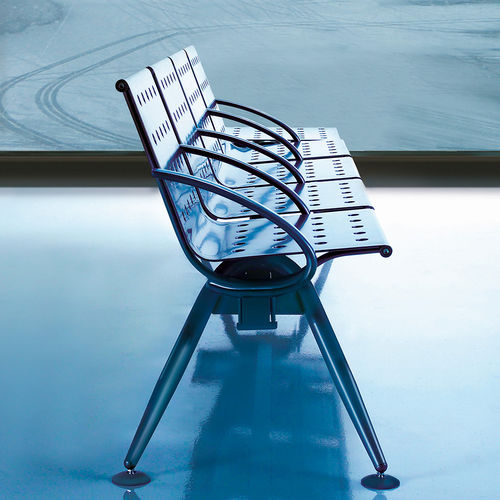 steel beam chair / powder-coated steel / 3-seater / 4-seater