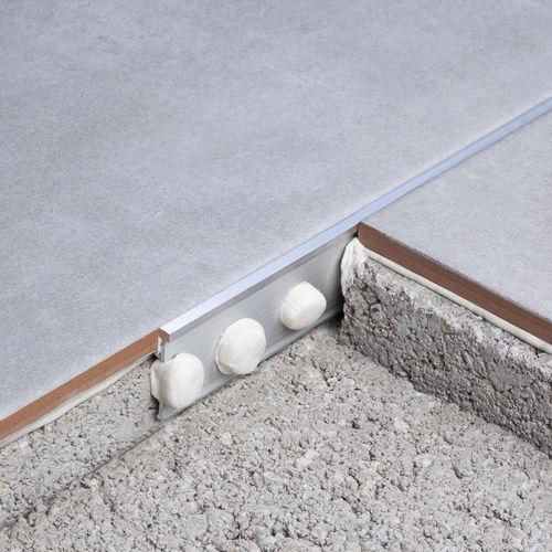 aluminum junction profile / brass / for tiles