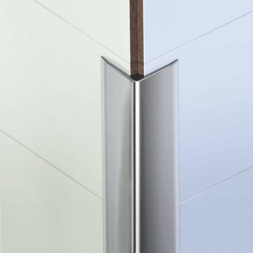 PVC edge trim / for tiles / outside corner