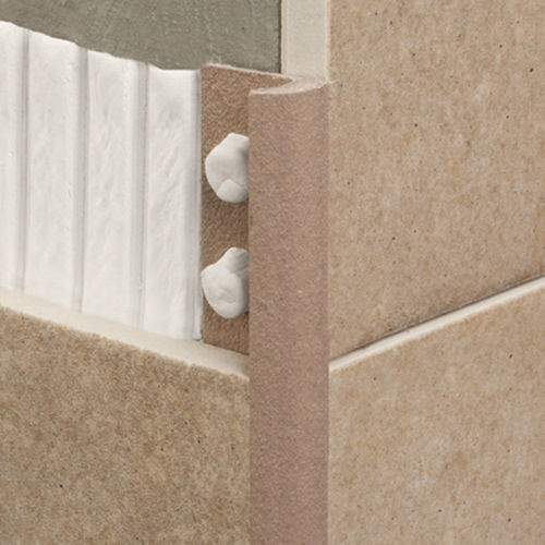 PVC edge trim / for tiles / outside corner