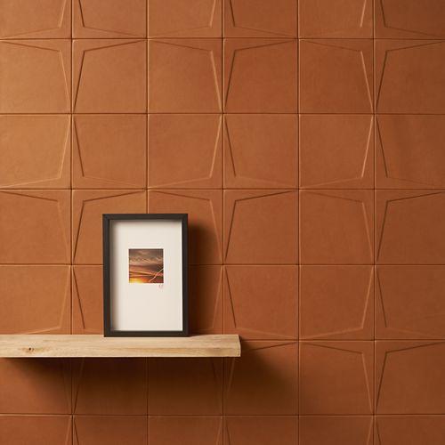 Indoor tile / wall / leather / matte COLLECTION GÉOMÉTRIE VARIABLE MOTIF ÉTOILE Cuir au Carré