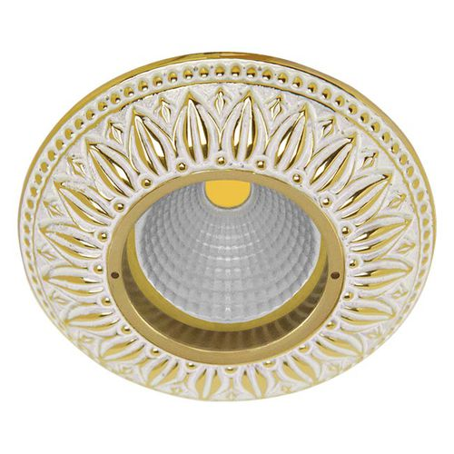 recessed downlight / LED / round / brass
