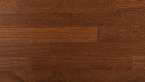 engineered parquet floor / glued / mahogany / semi-gloss