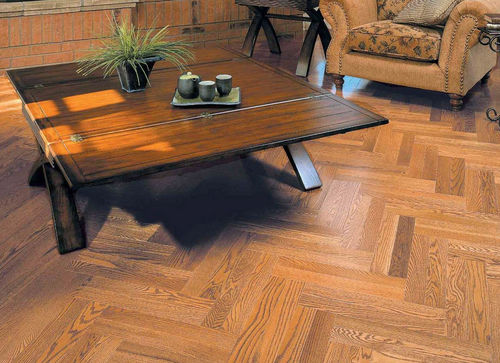 engineered parquet floor / solid / nailed / glued