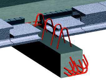 Reinforced concrete beam / precast concrete / rectangular / for floors PR SEAC
