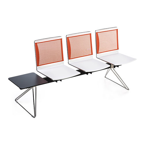 steel beam chair / plastic / 3-seater / 4-seater