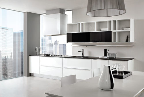 contemporary kitchen / laminate / high-gloss / lacquered