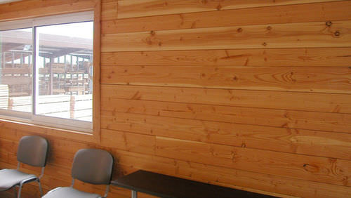 Douglas fir wall cladding / interior