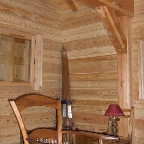 wooden wall cladding / interior