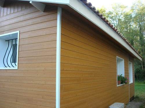 fir cladding / grooved / panel
