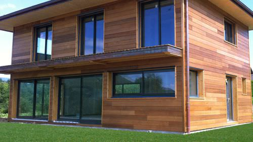 cedar cladding / grooved / panel