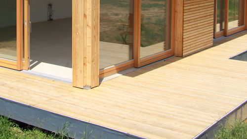 larch deck board / solid wood / for domestic use