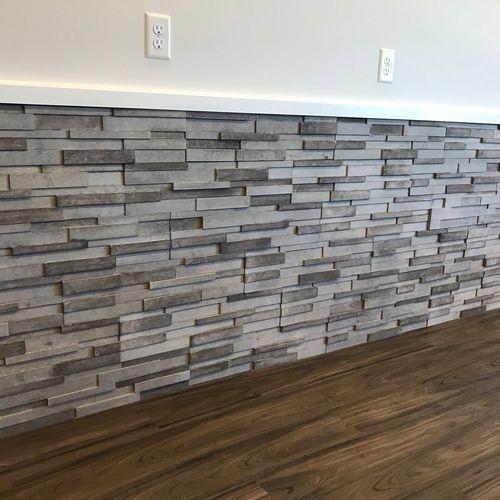 stone wall cladding panel / exterior / interior / textured