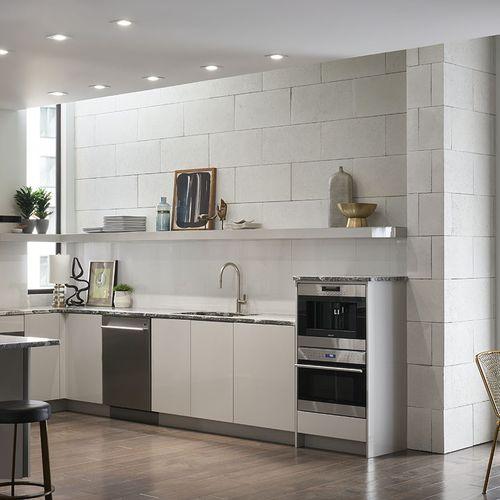 limestone wall cladding / interior / natural / stone look