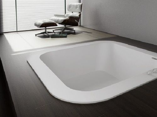 Square bathtub / acrylic / hydromassage / chromotherapy ALFA FUSION HIDROBOX - ABSARA