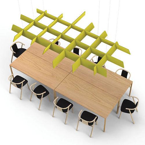 fabric acoustic baffle / PVC / hanging / decorative
