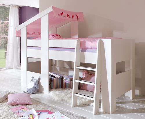 loft bed / contemporary / child's / girl's