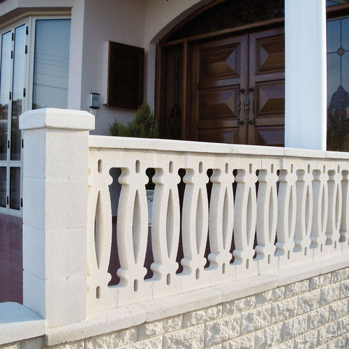 Engineered stone balustrade / outdoor / for patios / for balconies CORAZON Verniprens