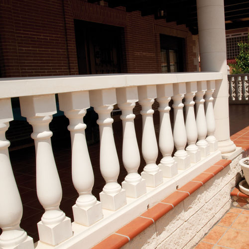 engineered stone balustrade / outdoor / for patios / for balconies