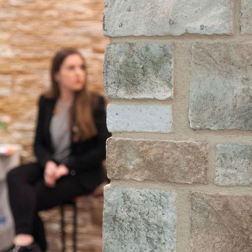 concrete wall cladding panel / indoor / outdoor / embossed