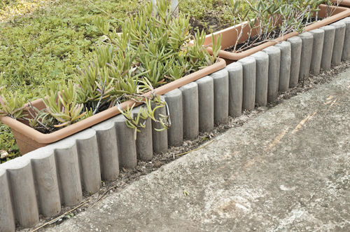 Garden edge / concrete / round BRASIL Verniprens