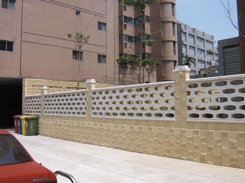 Concrete screen wall OVAL Verniprens