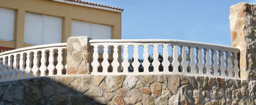 Engineered stone balustrade / bar / for balconies / for patios IBIZA Verniprens