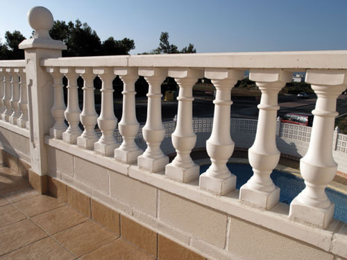 Engineered stone balustrade / bar / for balconies / for patios VERONA Verniprens