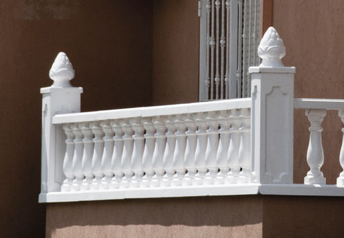 engineered stone balustrade / outdoor / for balconies / for patios