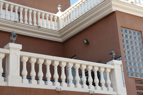 Engineered stone balustrade / outdoor / for balconies / for patios GINEBRA Verniprens
