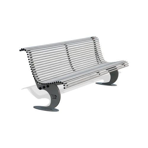 public bench / garden / contemporary / stainless steel