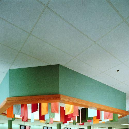 Fiberglass suspended ceiling / panel / acoustic USG PREMIER HI-LITE™ USG
