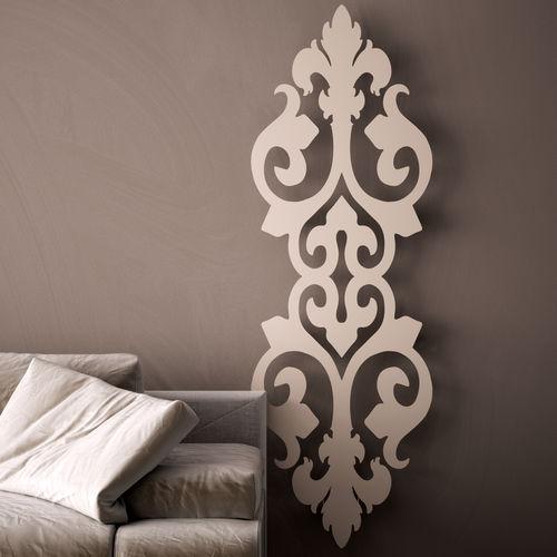 hot water radiator / metal / original design / vertical